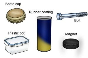 Equipment needed to change the rubber on a magnet
