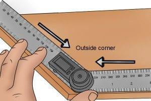Using the outside angle of a digital rule