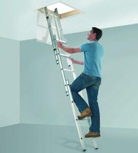 Abru Arrow 3 Section Aluminium Loft Ladder