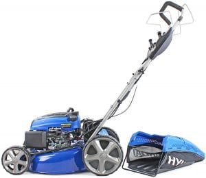 Hyundai Petrol Lawnmower Self Propelled Push Button Electric Start Lawn Mower