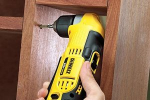 A Dewalt angle drill is very versatile.