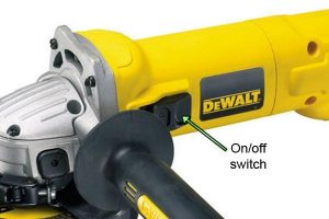 Angle grinders can be controlled by an on off switch.
