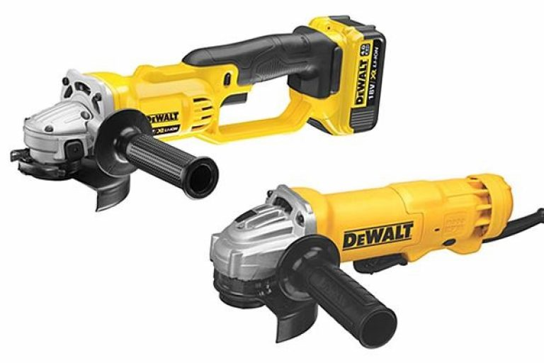 Cordless vs corded angle grinders when it comes to DeWalt.