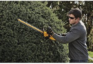 DeWalt hedge trimmers are high-quality and provide a long lasting battery life.