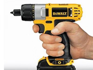 A cordless screwdriver is very versatile.