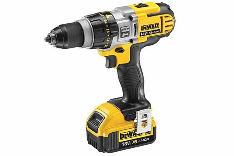 Using a Dewalt hammer drill driver.