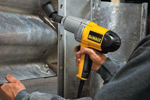 An impact wrench is ideal for use on large bolts and nuts.