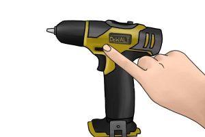 DeWalt hammer drill lock off.
