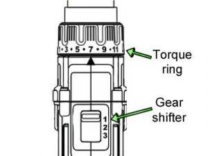 DeWalt Torque Ring and Gear Shifter diagram.