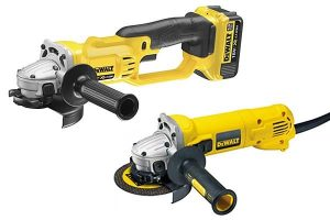 DeWalt angle grinders come in a range of different sizes.