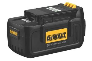 DeWalt battery pack which can be used on several different power tools.