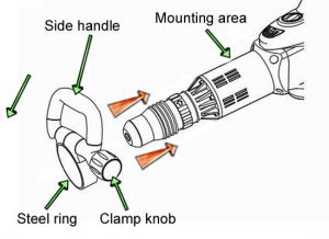 Demolition hammer - attaching side handle