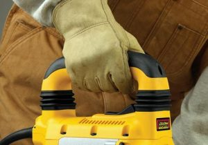 Demolition hammer should be used with thick gloves.