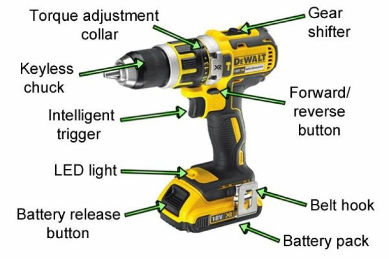 Diagram of DeWalt Hammer Drill.