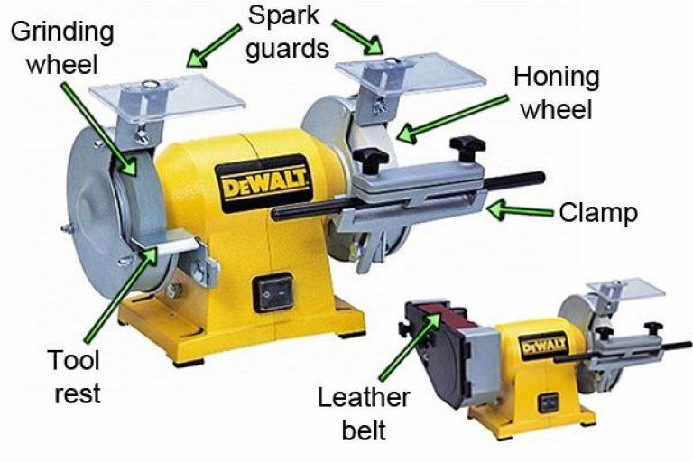 Detailed specification of the DeWalt Bench Grinder.