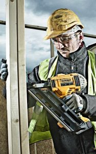 A framing nailer will greatly speed up your work.