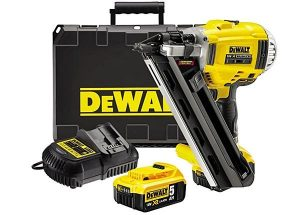 Some Dewalt nail gun kits include 2 batteries.