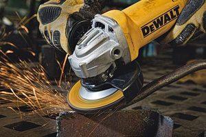 Dewalt angle grinder with anti-vibration handle.