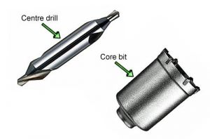 Start hole off with centre drill when core drilling.