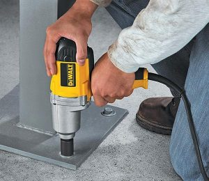 A corded impact wrench is simple to use.