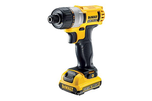 The Dewalt cordless screwdriver is compact and lightweight.