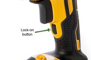 The lock-on button means you don't have to hold the trigger down.