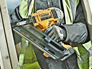 The DCN692 nail gun has dry fire lock-out and a versatile magazine angle.