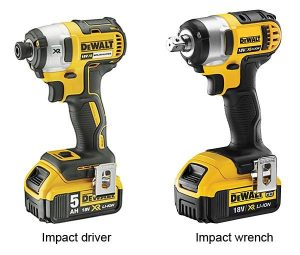 Impact wrenches and drivers perform different tasks.