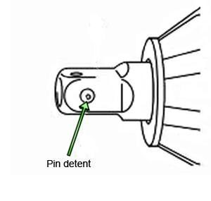 A pin detent holds the socket on securely.