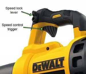 Variable speed makes the blower more versatile.