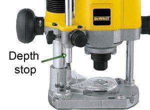 Dewalt router depth stop.