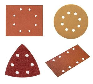 Dewalt sandpaper discs in a range of different sizes.