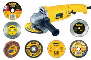 Examples of different discs and grinder accessories available on the market.