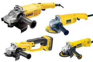 Different types of DeWalt Angle Grinder.