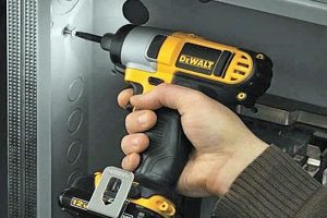 Dewalt impact drivers will work even on metal surfaces.