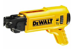 The Dewalt collated magazine has a quick release mechanism.