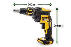 The DeWalt drywall screwdriver is compact and lightweight.