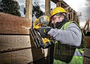 A framing nail gun is ideal for heavy-duty projects.