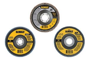 DeWalt flap discs are available in different sizes.