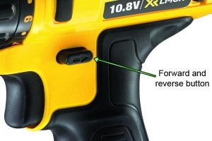 Forward and reverse button to control the drill direction.