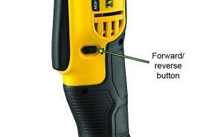 Reverse button makes Dewalt angle drill more versatile.
