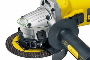 Geared head on angle grinder.