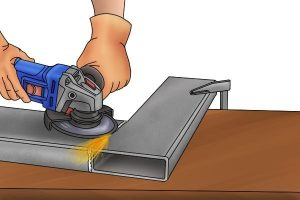 Example of how to grind metal with an angle grinder and how it requires speed.