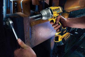 Dewalt impact wrenches have bright worklights.