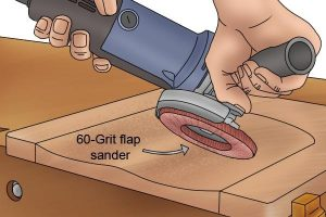 When grinding surfaces low speed should be used.