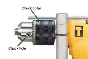 Percussion drill keyed chuck.