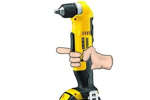 Release trigger if Dewalt angle drill stalls.