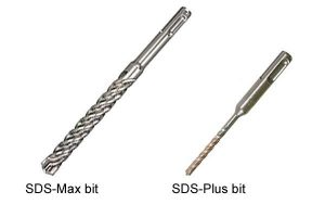 SDS drill bits are much bigger than SDS plus bits.