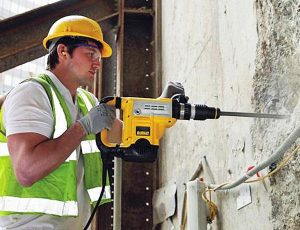 SDS max drill includes variable speed.