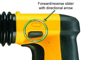 SDS plus drill - changing direction of rotation.